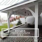 Альтанка під ключ 🔑 за індивідуальним проектом 300х450 см ⠀ Особливістю конструкції є: 🧙♂ фігурні підкоси з арочними зарізками (не простий елемент ручної роботи) 👉 Окрім цього, альтанка виготовлена з соснового клеєного брусу січенням 160х160мм 👉 Крокви і дошка настилу даху - масив сосни 👉 Покрівля - бітумна черепиця з підкладочним килимом 👉 Кріплення європейського типу SPAX ⠀ ✔WOODSHED - виготовляємо конструкції з дерева будь-якої складності під ключ ____________ Готові проекти альтанок: ➡ https://woodshed.com.ua/15-besedki 📞+38 (067) 464 64 52 - телефонуйте для розрахунку вартості та термінів виготовлення#альтанкакиїв #клеєнийбрус #бесідкадеревяна #бесідкакиїв #бесідка #підключ