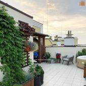 Індивідуальні замовлення - то окрема любов 💛 ⠀ Спроектували та реалізували навіс на даху 16 поверху. Проста конструкція з озелененням сворила особливий настрій. ⠀ Як вам кінцевий варіант на фото? ⠀ ✔WOODSHED - виготовляємо конструкції з дерева будь-якої складності ________________ ➡ https://woodshed.com.ua 📞+38 (067) 464 64 52 - надсилайте ескіз, прорахуємо!